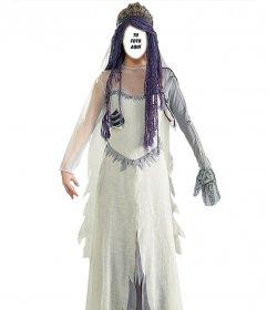 Fotomontaje con un disfraz de La Novia Cadáver online que puedes editar