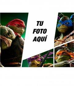 Fotomontaje con las nuevas tortugas ninja