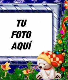 Marco Navideño con un portafotos infantil para poner tu foto
