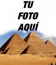 Efectos para poner tu foto en las pirámides de Egipto