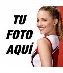Fotomontaje con Quinn Febray, la famosa animadora de Glee