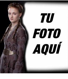 Foto efecto editable para poner tu foto junto a Sansa Stark