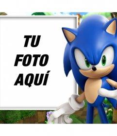Foto efecto con Sonic para personalizar con tu foto favorita