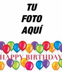 Marco de fiesta de cumpleaños para editar con tu foto gratis