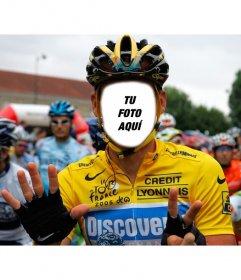 Crea un fotomontajes de un ciclista profesional en el Tour de Francia