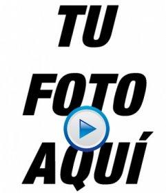 Foto montaje para hacer como si una foto tuya es un vídeo, añadiendo el icono de PLAY a tu foto