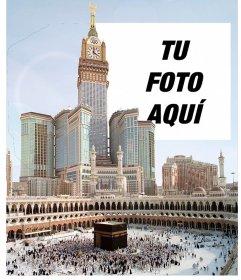 Postal de viaje a la Meca, la ciudad principal de Arabia Saudita