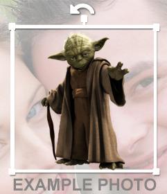 Fotomontaje online para poner a Yoda de Star Wars en tus fotos online