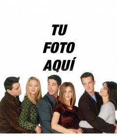 Tu foto con los personajes de Friends en este fotomontaje