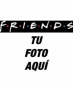 Pon el logo de la famosa serie de televisión Friends en tu foto. Perfecto para fotos de amigos!