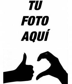 Tu foto junto al símbolo oficial de la FRIENDZONE con este divertido efecto