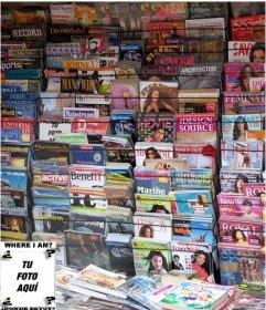 Juego para hacer con una foto, encuentra la cara entre todas las revistas