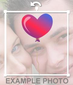 Globo en forma de corazón para decorar tus fotos como un sticker