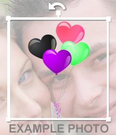 Globos coloridos y en forma de corazón para añadir en tus imágenes