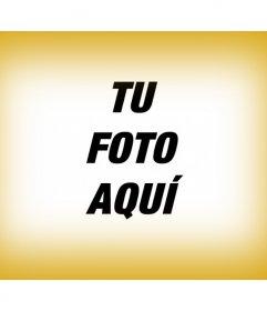 Embellece tu fotografía digital con este borde para foto color oro degradado a modo de marco