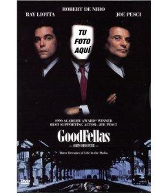 Aparece en la portada de la película GoodFellas con este montaje online