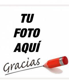 Tarjetas para dar las gracias online y poner tu foto