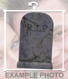 Sticker de una tumba antigua sin nombre