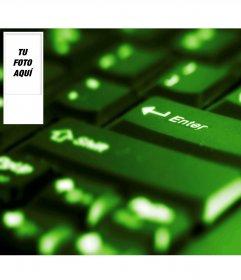 Fondo para twitter con tu foto de teclado luminoso. Pon tu foto en el lateral y obtén tu fondo de pantalla personalizado