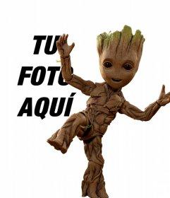 Fotomontaje con Groot Baby