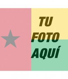 Filtro gratis para tu foto con la bandera de Guinea Bissau