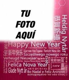 Felicitación de Año nuevo en diferentes lenguajes para poner tu foto