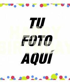 Filtro colorido con la frase HAPPY BIRTHDAY encima de tus fotos
