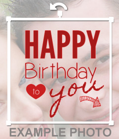 Pegatina con el mensaje -Happy Birthday to you-
