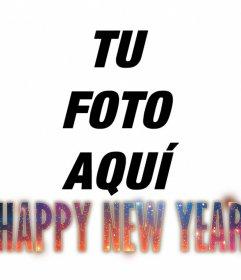 Efecto para poner el texto HAPPY NEW YEAR en tu foto con un diseño hipster