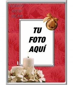 Marco para fotos online para celebra un Feliz Año Nuevo