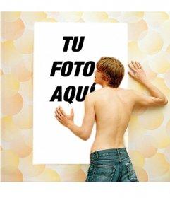 Efecto para fotos de un chico adorando tu foto para ser la envidia de tus amigas