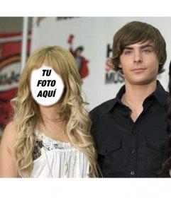 Fotomontaje para poner tu cara en Ashley Tisdale junto a Zac Efron