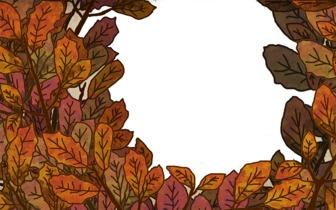 Marco para fotos de otoño con hojas de árbol