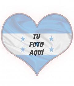 Collage con la bandera de Honduras y tu foto