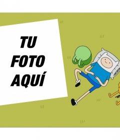 Montaje editable para tu foto con los personajes de Hora de Aventura