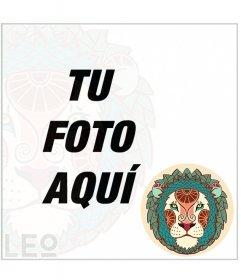 Foto efecto del signo Leo para decorar tus fotos con un marco