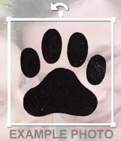 Foto efecto para añadir una huella de perro en tus fotos y decorar