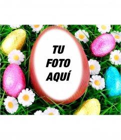 Fotomontaje para poner tu imagen dentro de un huevo de Pascua