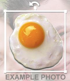 Pegatina de un huevo frito para poner en tus imagenes sin necesidad de descargarte ningún programa