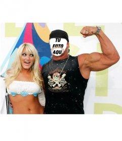 Si quieres ser de Hulk Hogan este es tu fotomontaje del famoso luchador