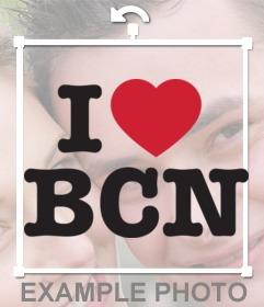 Sticker de apoyo a Barcelona I love BCN para poner en tus fotos