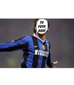 Montaje para fotos donde podrás ponerle tu cara a Ibrahimovic