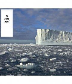 Fondo para twitter para poner tu foto personalizada, con fondo de un paisaje helado