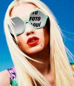 Marco de fotos con Iggy Azalea para poner una imagen reflejada en sus gafas
