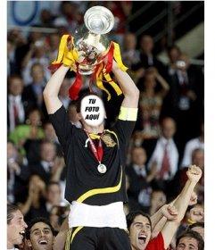 Con este fotomontaje aparecerás con el cuerpo de Iker Casillas