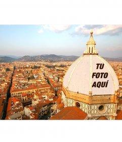 Postal para poner tu foto en la cúpula del Duomo