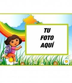 Invitación de cumpleaños infantil de Dora