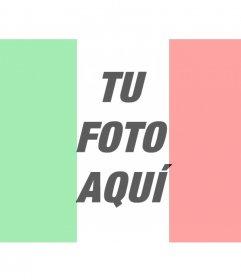 Bandera de Italia foto montajes online