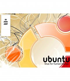 Fondo para tu cuenta de twitter de Ubuntu Linux, para poner tu foto en el lateral
