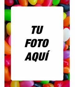 Marco para foto de gominolas para hacer online con tus foto